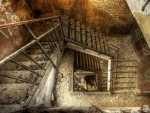 abandoned abstraction staircase hdr