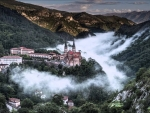 valley monastery in the clouds