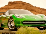 Corvette in Neon Green