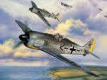WWII German FW 190 Painting