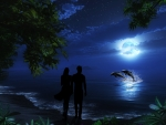 *Romantic night in the light of blue full moon! Enjoy it!!*