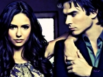 Elena and Damon (oil painting)