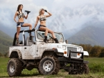 Two Girls in a Jeep YJ
