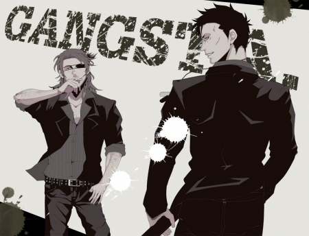 Gangsta - Psico, Brown, Anime, Sword, Crazy, Nicolas, Mafia, Gangsta, Gore