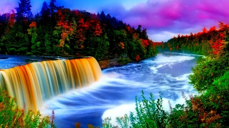 Beautiful Rainbow Waterfall