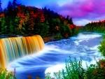 Beautiful Rainbow Waterfall