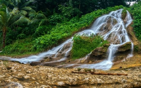 Pityak Waterfall, Dumanjug, Cebu (Philippines) - waterfall, trees, nature, philippines