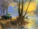 Retro Car at Dawn
