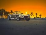 Retro Car at Sunset