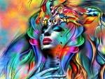 Colorful Fantasy Woman