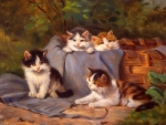 Four Small Kitten