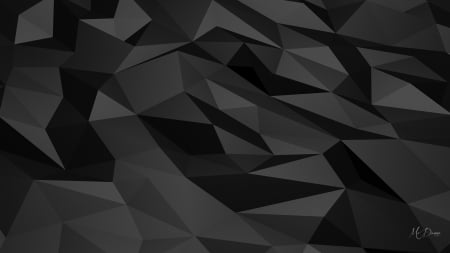 Polygon Dark Mind Teasers Abstract Background Wallpapers On