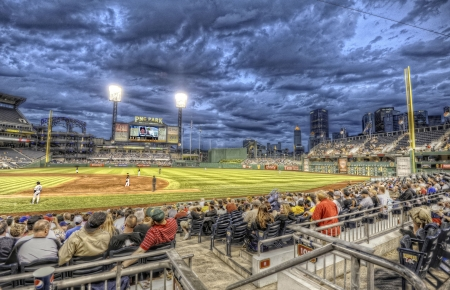 pittsburgh pirates baseball stadium hdr - seats, scoreboard, field, hdr, stadium, baseball