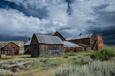 Bodie's Mood - Bodie, Pentax, clouds, sky, old, ghost town California, abandoned, landscape