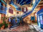 beautiful courtyard hdr