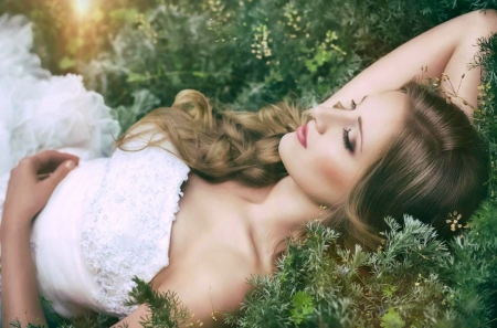 I'm just a Dreamer  ♥ - pretty, blond, bride, beautiful, woman, photography, girl, dreamer, beauty, face