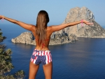 Maria Ryabushkina in her Patriot Shorts