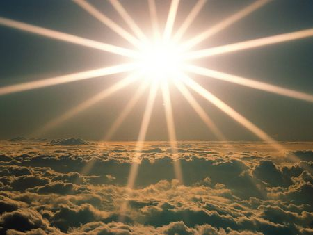 Untitled Wallpaper - new day, heaven, clouds, definately heaved above the clouds, sun
