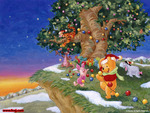 Christmas with Pooh Bear