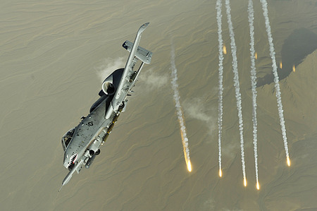 A10 IN ACTION - thunderbolt, wings, warthog, a10, jet, flares