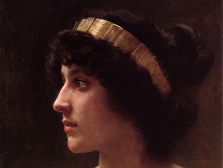 Irène by William-Adolphe Bouguereau - sensual, pretty, dreamy, wonderful, paris, painted, beautiful, woman, elegant, bouguereau, picture, nice, colored, painting, color, beauty, face, light, other, amazing, female, lovely, romantic, realism, beautiful eyes, cool, girl, france, painter, awesome, great