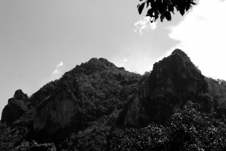 Mountains Near  Chae Hom Thailand - Lampang, remote, Thailand, Mountains