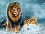 Celestial Lion and His Cub