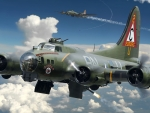 WWII B-17 Flying Fortress in Action