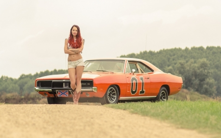 General Lee Never Looked Better Girls And Cars Cars