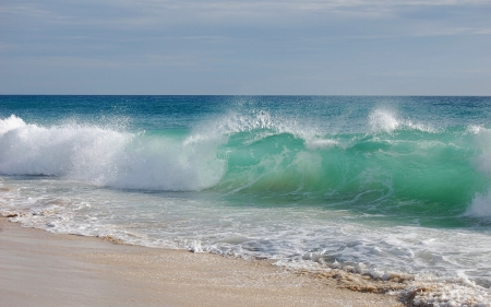 BEACH Waves ~ - beach, sand, ocean, nature, waves, sky