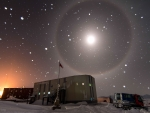 A Blue Moon Halo over Antarctica
