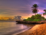 gorgeous beach at sunset hdr