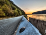 guard rail in focus hdr