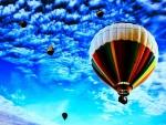 hot air balloons skyward hdr