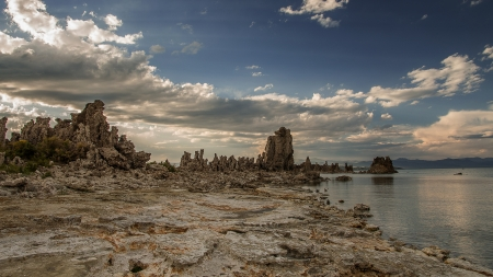 Another World - ancient, rock, tufa, coral, eerie, lake, Mono Lake, photography, California, Pentax, beauty, landscape
