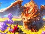 Traveller enchanting the dragon