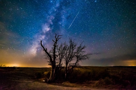 Comet Dust over Enchanted Rock \ - stars, fun, desert, cool, nature, space, comet