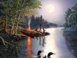 Fishing by the moon