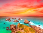 magnificent colorful ocean sunset hdr