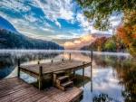 stunning lake lake landscape hdr