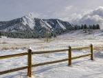 wonderful winter scene in colorado