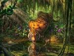 'Mystical tiger'.....