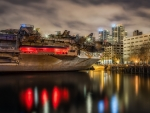 USS midway aircraft carrier in san diego hdr