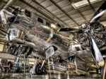 beautiful B-17 bomber in a museum hdr