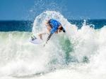 Girl Surfing on Malibu Beach