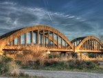 old cement arch bridge hdr