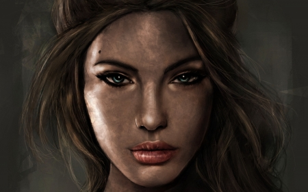Lara Croft Fantasy Abstract Background Wallpapers On