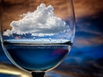 a cloud in a glass