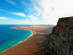 cliffs on the beach in the canary islands