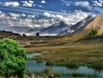 foothills approaching mountain range